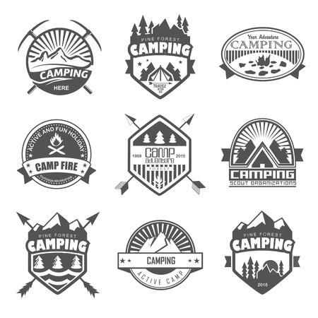 camping tent:   Travel emblems
