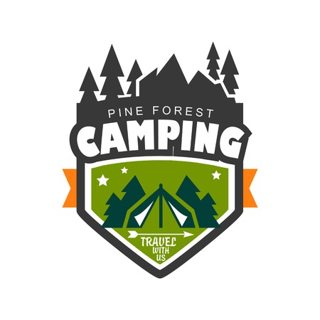 campsite:   Travel emblems