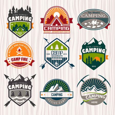 camp fire:   Travel emblems
