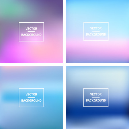 Abstract colorful blurred vector backgrounds. Vector timeline template. Elements for your website or presentation. Vector