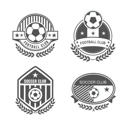 Vector set sport emblems. badges and labels  Football icon