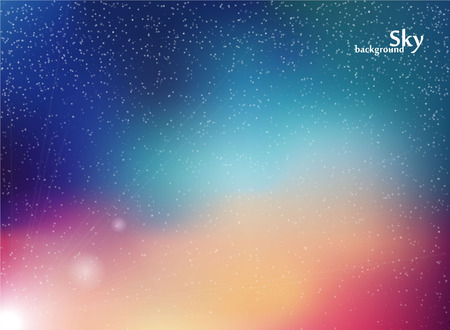 milky way galaxy: Abstract background. Night sky vector illustration