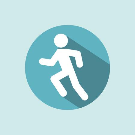 Man running icon. Racing Jogging Running Walking. Illustration