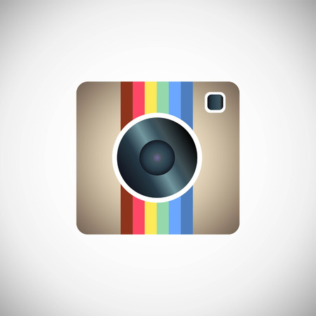Hipster photo or camera icon on a white background Vector
