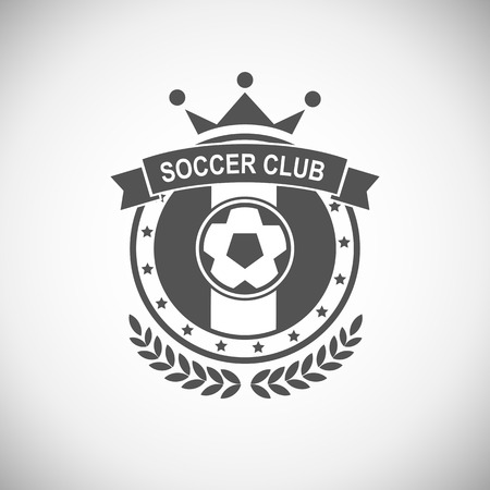 insignia: Conjunto de vectores emblemas deportivos. Logo insignias y etiquetas de los iconos de F�tbol Vectores