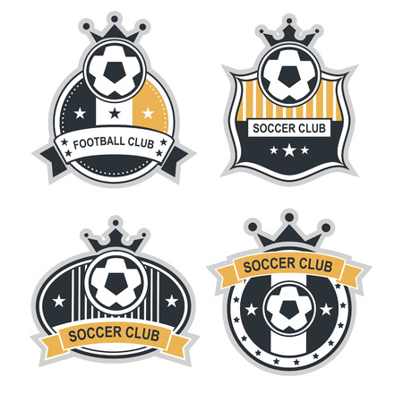 team sport: Vector set sport emblems.  badges and labels  Football icon Illustration