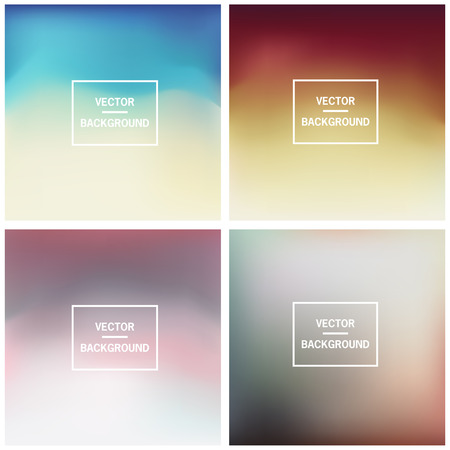 nice background: Abstract colorful blurred vector backgrounds. Set timeline template.