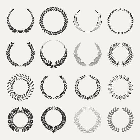emblems on white   イラスト・ベクター素材