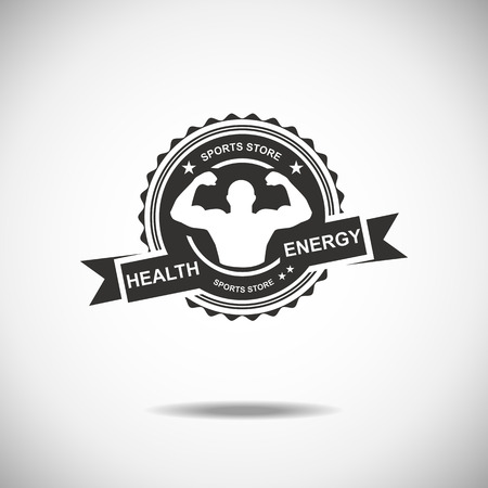 health and fitness: Set of various sports and fitness logo emblem graphics and icons. Shop sport products