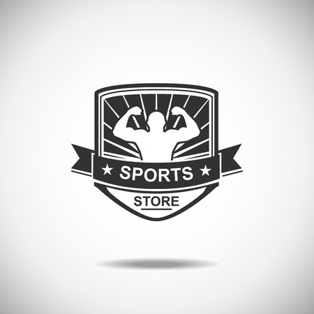 sport logo: Set of various sports and fitness logo emblem graphics and icons. Shop sport products