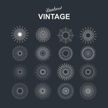 Light ray. Vintage sunburst collection with geometric shape. Vector