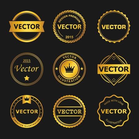 stamp: Dise�o vectorial Conjunto de emblema, sello, ilustraciones