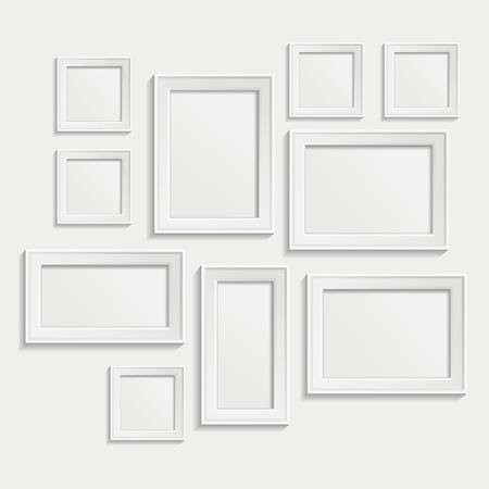 白い背景に現代現実的なフレーム  イラスト・ベクター素材