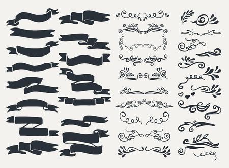 Set von Ornamenten, Skizzen, Bilder, Symbole und dekorative Elemente. Standard-Bild - 37201742