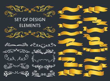 scribbles: Set of ornaments, scribbles, frames, icons and decorative elements.