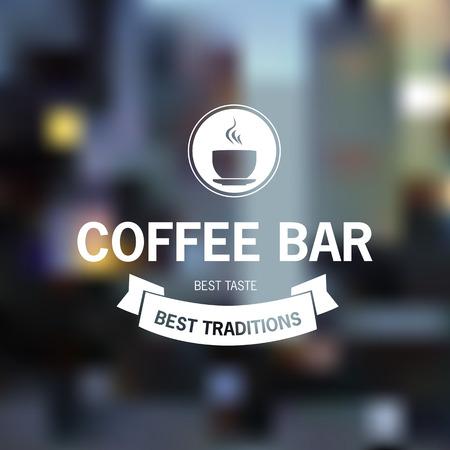 logotipos de restaurantes: Imagen del vector sobre un fondo borroso. Comida y bebida