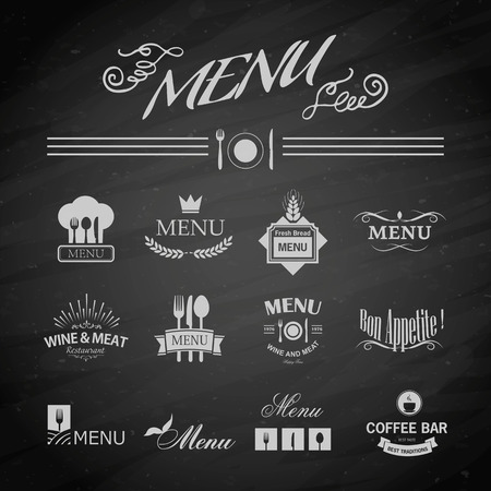 Vector template chalkboard menu for restaurant and snack bars Vector