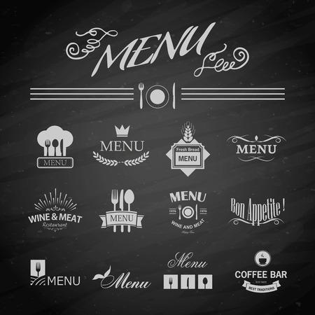 chalkboard menu: Vector template chalkboard menu for restaurant and snack bars