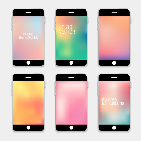 Collection of Technology Wallpaper Designs.  Vector