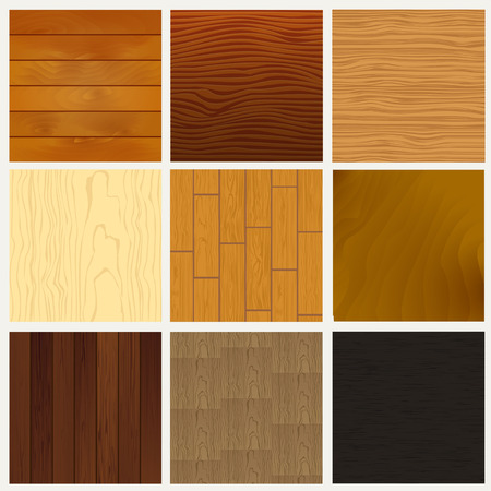 Set of wooden textures.  Illustration