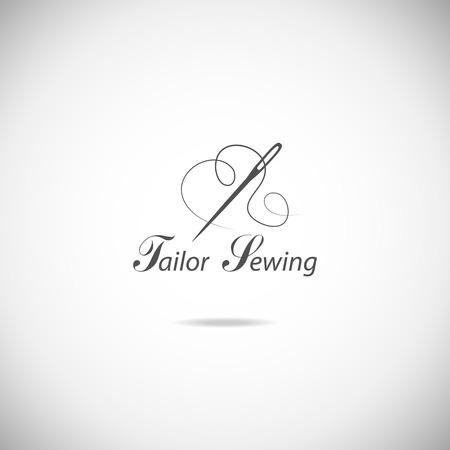 Set of tailor labels, emblems and design elements. 일러스트