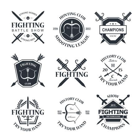 bow arrow: Battle show emblem.