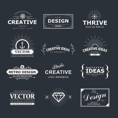 ビンテージ: ビンテージのデザイン要素です。  イラスト・ベクター素材