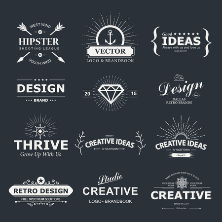 typography design: Vintage design elements.