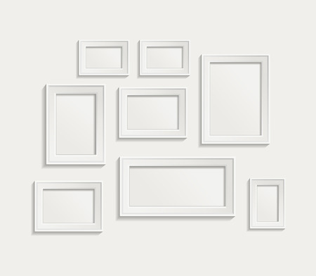 photo board: Modern realistic frame on a white background