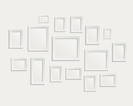 Modern realistic frame on a white background
