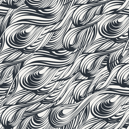 white wave: Black and white wave pattern. Seamless pattern can be used for background, wallpaper, tiling, pattern fills, surface textures. Illustration