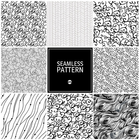 seamless geometric: Set of wave seamless pattern. It can be used for wallpaper, fabric, pattern fills, web page background, surface textures.