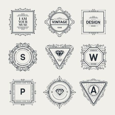 Monogram luxe logo template met bloeit kalligrafische elegante ornament elementen. Luxe elegant ontwerp voor cafe, restaurant, boutique, hotel, winkel, opslag, heraldisch, sieraden, mode-