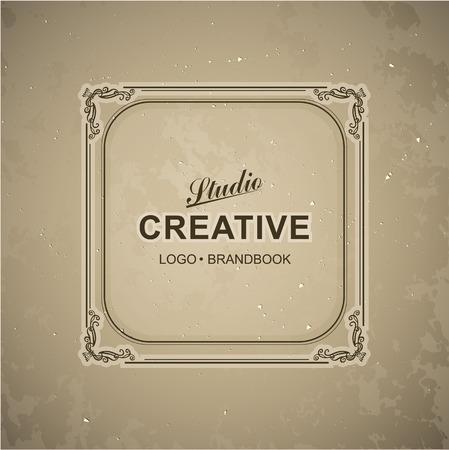 boutique hotel: Monograma plantilla de logotipo de lujo con florituras elementos caligr�ficos elegantes ornamento. Elegante dise�o de lujo para el caf�, restaurante, hotel boutique, tienda, her�ldica, joyas, moda