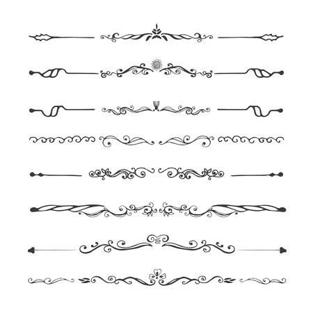 Weinlese-Teiler und Ornamente, kalligrafische Design-Elementen und Seite Dekoration.
