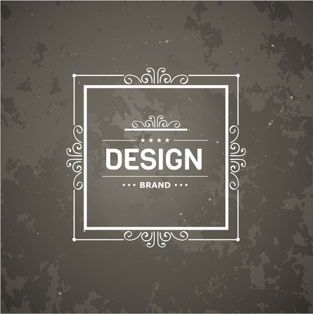 marcos decorativos: Plantilla de lujo del monograma con florituras elementos caligráficos elegantes ornamento. Elegante diseño de lujo para el café, restaurante, hotel boutique, tienda, heráldica, joyas, moda