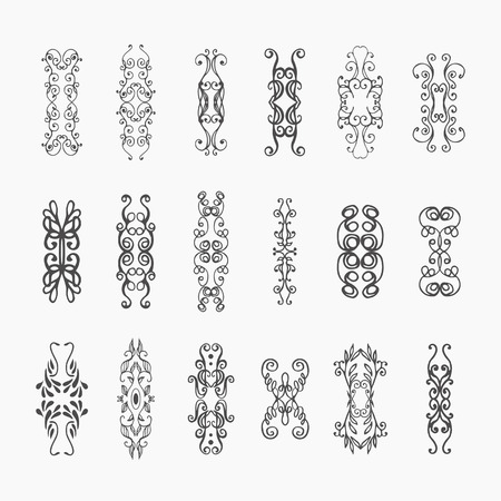 floral decoration: Calligraphic vector design elements and page decoration. Flourishes Calligraphic Ornaments and Frames. Retro Style Design Collection for Invitations, Banners, Posters, Placards Illustration