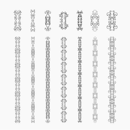 whorl: Monogram  luxury  template with flourishes calligraphic elegant ornament elements. Decorative borders, frame, chain, whorl, crest.