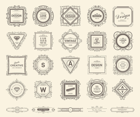 label vintage: Monogram  luxury template with flourishes calligraphic elegant ornament elements. Luxury elegant design for cafe, restaurant, bar, boutique, hotel, shop, store, heraldic, jewelry, fashion