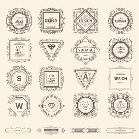 Monogram luxe sjabloon met bloeit kalligrafische elegante ornament elementen. Luxe elegant ontwerp voor cafe, restaurant, bar, boutique, hotel, winkel, opslag, heraldisch, sieraden, mode- Stock Illustratie