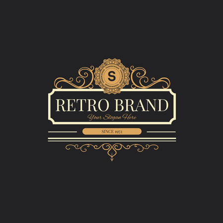 Retro Vintage labels Insignes ensemble. Banque d'images - 43500451