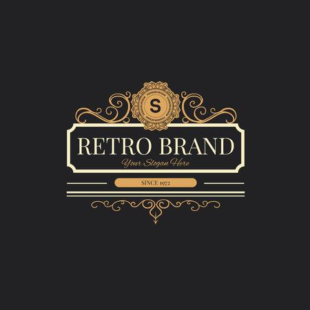 Vintage Retro etiquetas insignias. Foto de archivo - 43500451