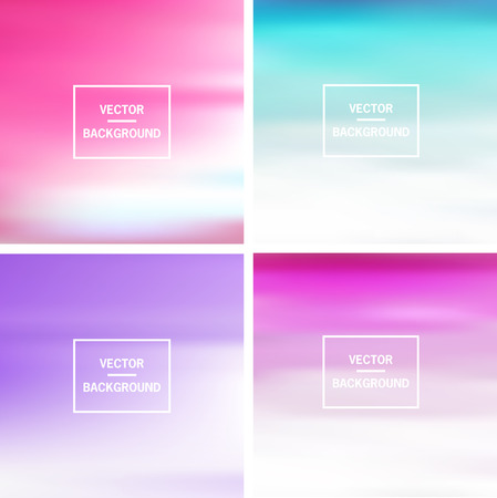 Abstract colorful template blurred vector backgrounds.  Elements for your website, application, banner, presentation. Vectores
