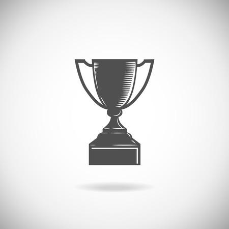 trofeo: Taza del trofeo aislado en un fondo blanco