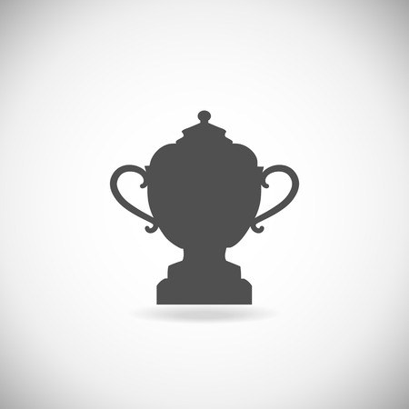 win win: Trophy cup isolated on a white background