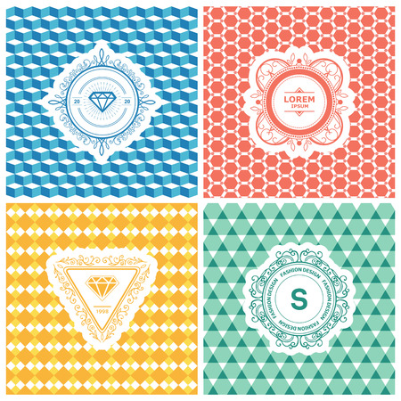luxury template: Monogram luxury logo template with flourishes calligraphic elegant ornament background