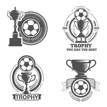 ベクトルは、スポーツのエンブレムを設定します。ロゴのバッジとラベル サッカーのアイコン