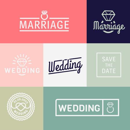 heirat: Ehe und Verpflichtungs-Icons Set