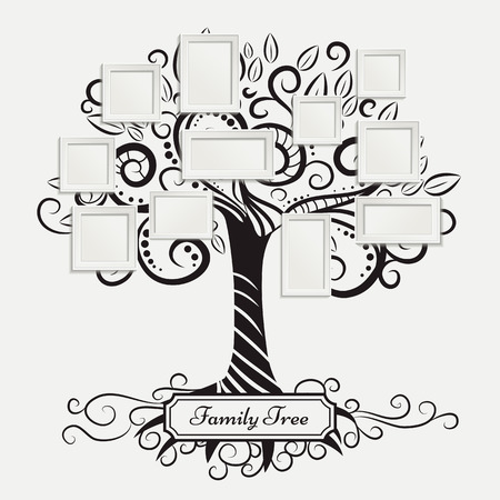 family tree: Memories art tree with photo frames