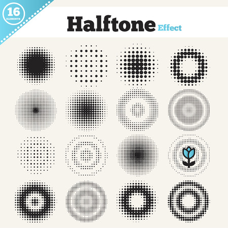 illustration line art: Grunge halftone drawing textures background set